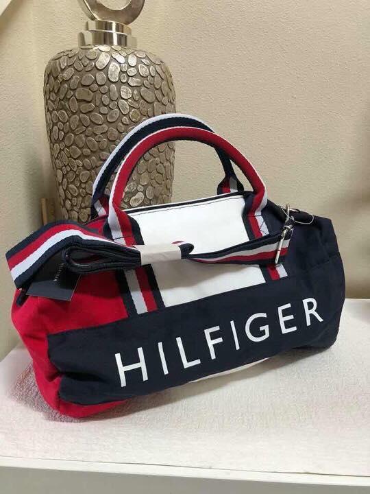 Tommy Hilfiger Mini Gym Signature Duffel Bag Red White Blue